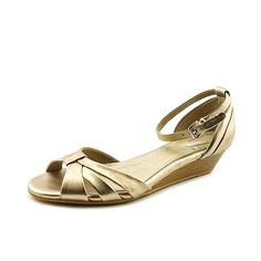 Giani Bernini Women's Reeo Wedge Sandals, Gold, Size 6.0 -- Check out this great product.