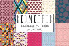 70 Bright Geometric Vector Patterns - Patterns - 6