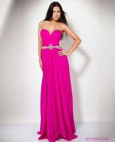 Strapless Chiffon Gown Prom Dress Style 159764