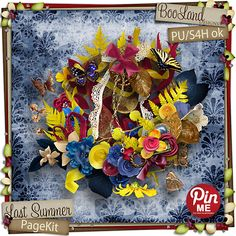"""It said """"Pin Me"""".  How could I not? Plus, it's Blue! Last Summer Page Kit"""