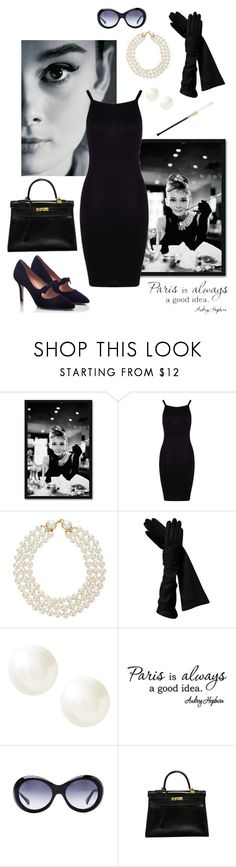 """Audrey Hepburn"" by annalynn2424 ❤ liked on Polyvore featuring Chanel, Amanti Art, Boohoo, Banana Republic, Oliver Goldsmith, Hermès and PAS DE ROUGE"