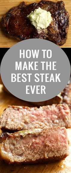 THE BEST STEAK RECIPE I am going to teach you how to make the best steak ever. The best steak is made o. Good Steak Recipes, Grilling Recipes, Meat Recipes, Cooking Recipes, Best Strip Steak Recipe, Baked Steak Recipes, Syrian Recipes, Game Recipes, Cheese Recipes