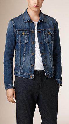 Indigo Stretch-cotton Japanese Denim Jacket - Image 2