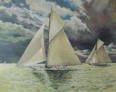Yacht Race. Oil on Canvas Thomas Kohler 2015
