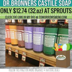 Sprouts Shoppers! Get your #drbronners soap GO to link in my bio @tomorrowsmom for details . . . . Visit My Blog: TomorrowsMom.com |Organic & Natural Deals|Family Savings Deals| . TAG OR DM THIS DEAL 2 A FRIEND .  #frugal #savings #deals #cosmicmothers  #organic #fitmom #health101 #change #nongmo #organiclife #crunchymama #organicmom #gmofree #organiclifestyle #familysavings  #healthyhabits #lifechanging #fitpeople #couponcommunity #deals  #healthyppl #motherhood #organiccouponing…