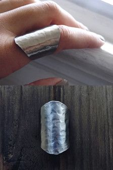 statement ring / stainless steel ring / boho chic jewelry, boho ring, very long ring / silver cuff ring, tube ring, wide cuff ring Armor Ring, Schmuck Design, Wide Band Rings, Stainless Steel Rings, Silver Cuff, 925 Silver, Boho Rings, Sterling Silver Necklaces, Silver Earrings
