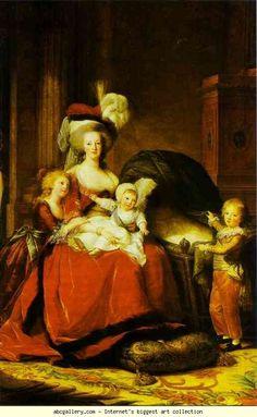 Louise-Elisabeth Vigée-Lebrun. Portrait of Queen Marie Antoinette with Children.