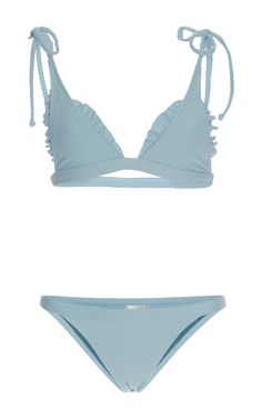 Ribbed Traveler String Bikini Set by MADE BY DAWN Now Available on Moda Operandi
