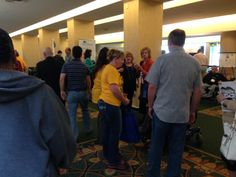 Attendees in Exhibit hall