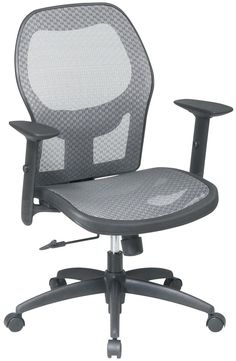 87694aa8ea4 Mesh Back Office Chair with Lumbar Support - Large Home Office Furniture  Check more at http