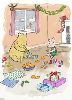 10 dying classic Christmas traditions we actually want to save (as summed up by Winnie-the-Pooh) Winnie The Pooh Pictures, Winnie The Pooh Quotes, Winnie The Pooh Friends, Disney Winnie The Pooh, Disney Love, Piglet Quotes, Winnie The Pooh Christmas, Disney Christmas, Christmas Time