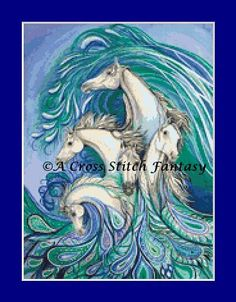 Check out this item in my Etsy shop https://www.etsy.com/listing/272199128/paisley-sea-horses-counted-cross-stitch