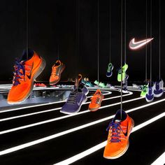 Futuristic Shoe Art Exhibits - Studio-at-Large's Nike Exhibit Depicts the High Tech Art of Motion (GALLERY)