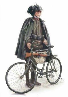 Bersagliere ciclista WW1 - pin by Paolo Marzioli