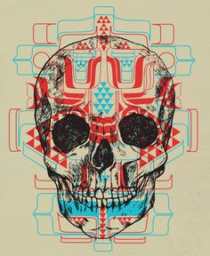 """Skull Native"" Art Print by Scott Erickson on Society6."