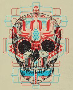 """""""Skull Native"""" Art Print by Scott Erickson on Society6."""