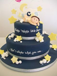 Twinkle star cake...l love the dark blue!