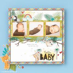 Scrapbook Blog, Baby Scrapbook, Scrapbook Pages, Scrapbooking, Scrapbook Layouts, Baby Album, Paper Hearts, Child Life, Craft Sale