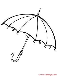 Regenschirm Bild - Fensterbilder zum Ausmalen
