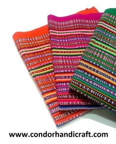 3 Beautiful Peruvian Blanket Orange fuchsia  by Condorhandicraft, $45.00