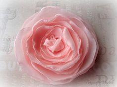 Wedding Hair Flower Ballerina Pink Hair Flower by RainwaterStudios, $20.00