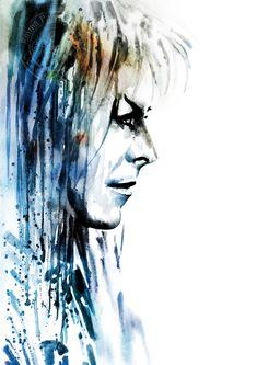 Bowie as Jareth by ? David Bowie Labyrinth, Labyrinth 1986, Labyrinth Movie, David Bowie Art, Labyrinth Quotes, David Bowie Goblin King, King David, Labyrinth Tattoo, Jim Henson Labyrinth