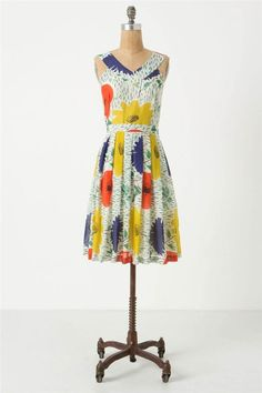 Anthropologie Primary Blooms Dress