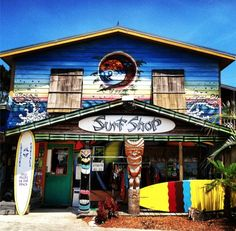 Secret Spot Surf Shop - Check out this cool, colorful, and well stocked surf shop in Nags Head, North Carolina!
