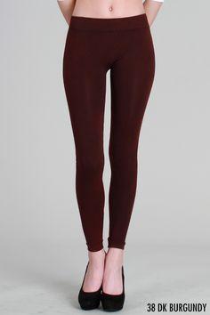 Dk Burgundy Vintage Dye Leggings