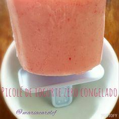 Picolé feito com iogurte zero congelado!