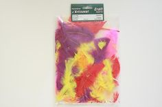 ZP191-99 Flat Feather Plumage 4-6 inch 8 Grams Multi Color