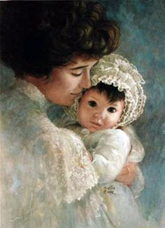 Beautiful Portrait of Mother and Child by Brenda Burke Vintage Pictures, Vintage Images, Art Pictures, Photos, Photographs, Brenda, Victorian Women, Victorian Art, Mothers Love
