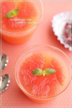 ピンクグレープフルーツのゼリー|レシピブログ