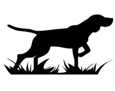 Hunting Dog Silhouette Clipart - Clipart Suggest Stencils, Hunting Dogs, Coyote Hunting, Pheasant Hunting, Turkey Hunting, Archery Hunting, Dog Silhouette, Scroll Saw Patterns, Custom Decals