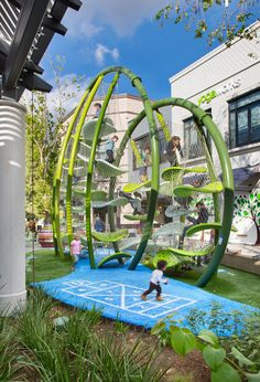 Luckey Climber at Westfield Topanga Natural Playground, Outdoor Playground, Landscape Architecture, Landscape Design, Playground Design, Urban Park, Urban Furniture, Furniture Online, Parking Design