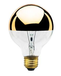 Use this half gold bowl light bulb on any pendants or fixtures where a direct light reflection is not desired. The gold bowl redirects the light back into the fixture which softens the lights appearan