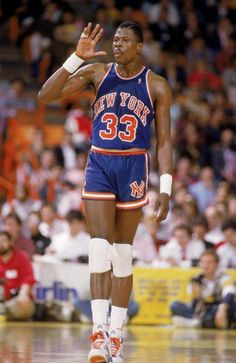 """High five! It's my birthday!""  Wishing #NewYorkKnicks legend Patrick Ewing a good one."