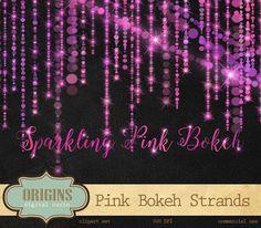 Pink Bokeh Sparkling String Lights