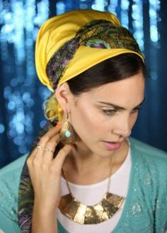 Sunny yellow sinar head covering
