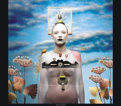 Futuristic Surrealism | Queen Slide - Thirteen Queens series by Alex & Felix