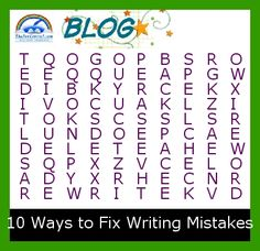 Can you find the 10 ways to fix writing mistakes?
