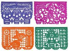 Here is an example of papel picado decorations.