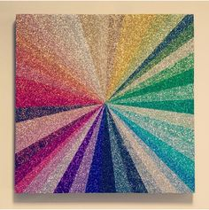 Awesome glitter art. Must do masking and glitter every other stripe and seal with spray glue/sealer then continue