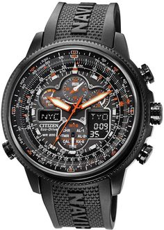 Citizen NAVIHAWK AT BLACK DIAL POLYURETHANE STRAP Mens Watch JY8035-04E BY Citizen