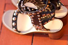 New In: Amazing Ankle Strap Studded Sandals