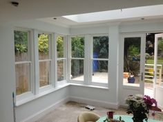 Timber sash windows and French doors This is how I want to remodel back living area. French Door Windows, French Doors With Screens, Windows And Doors, Exterior Windows, Front Doors, Sliding Doors, Timber Roof, Timber Windows, Sunroom Windows