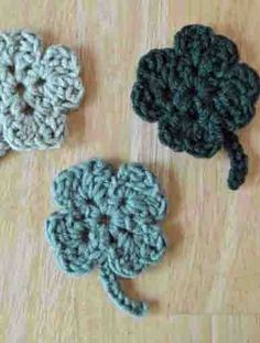 The Easiest Crochet St Patrick's Day Clover Pattern Ever