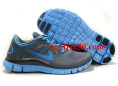 official photos 7b694 9001b Womens Nike Free Run 3 Dark Grey University Blue Shoes   More and More  Cheap Shoes Sale Online,Welcome To Buy New Shoes 2013