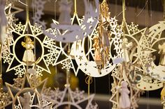 Moon and stars ornaments for Christmas Stock photo available for downloads on: istockphoto, shutterstock, dreamstime, depositphotos