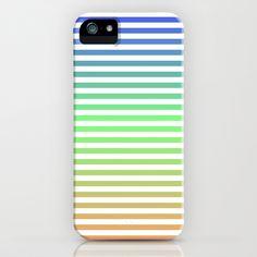Beach Blanket Blue/Green/Orange iPhone Case by Lyle Hatch - $35.00